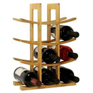 12 Bottle Bamboo Wine Rack - HY1801