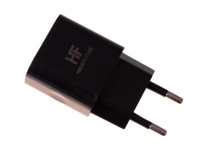 HF-1021 - Adapter charger USB HALOFUTURE 1A - black