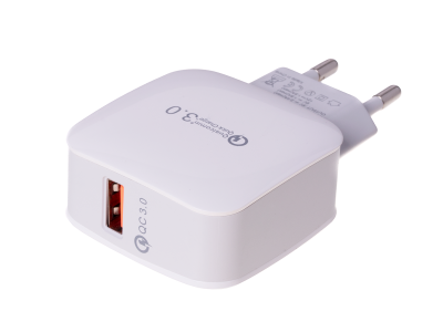 HF-1014 - Adapter charger USB HALOFUTURE Qualcomm Quick Charge 3.0 2.4A - white