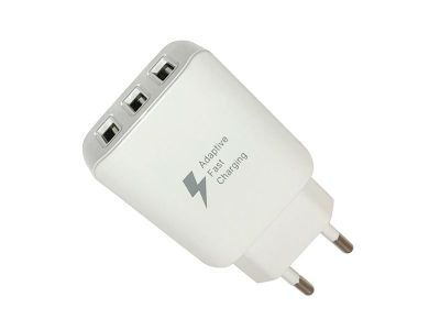 HF-217 - Adapter Fast Charger 3xUSB  - white