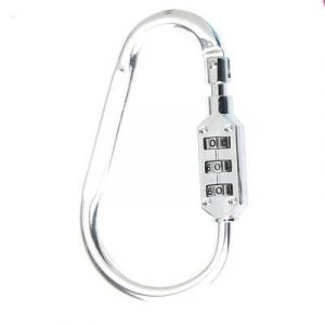 Aluminum alloy code lock mountaineering CH-22B - Electroplating White