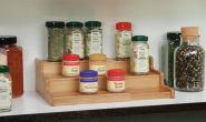 Bamboo 3-Tier Expandable Bamboo Spice Rack Step Shelf - HY1613