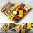Bamboo board with stand cutlery - HY1125
