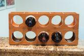 Bamboo Wood Stackable 5-Bottle Wine Rack - HY1827