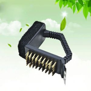 Barbecue grill cleaning wire brush