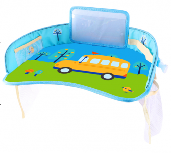 Car Portable table for children - yellow car