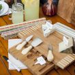 Cheese Board Set with Hidden Slide Curved Shape - HY1107
