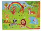 Children's puzzle - wild animals