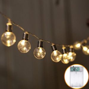 Christmas Day Lanterns LED screw cap light bulb lamp string 2.5M - warm white light