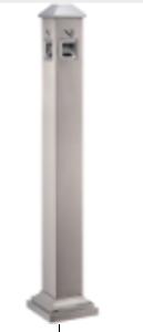 Cigarette trash pillar (GPX-129M) - silver