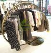 Decorating clothes rack round - bronze-coloured