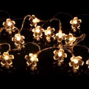 Festival party interior courtyard decoration lamp string - warm white light (1.2M)