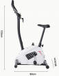 Fitness Bicycle spinning class - white