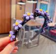 Hair Band - Dark purple flower (Type 6)