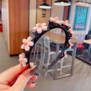 Hair Band - Pink flower (Type 5)