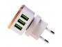 HF-1016 - Adapter charger USB HALOFUTURE 3xUSB 2.4A - white