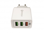 HF-216 - Adapter charger 3xUSB  Quick Charger - white