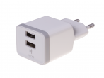 HF-34 - Adapter charger HEDO 2xUSB 2.4A - white