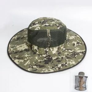 Insect net with hat - green black