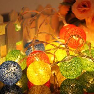 Interior Decorative Light Series Woolen ball light 2.3M - red Series