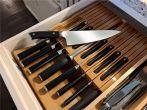 Kitchen Knife 16-Slots Organizer Rack Bamboo