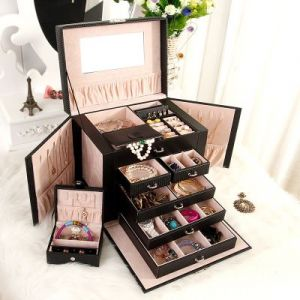 Large five-layer jewelry storage box 26,5*23*19,8cm - Black