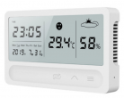 LED screen electronic thermometer clock - rechargeable