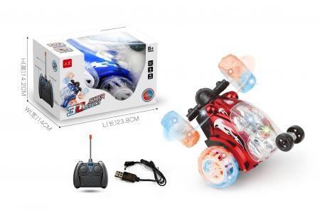 lighting 360 degree remote car - blue ( model 6802)