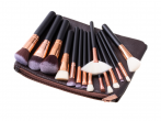 Makeup brush with bag brown(TR)