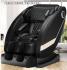 Massage chair (KJ-03) with full-body multi-function manipulator - black