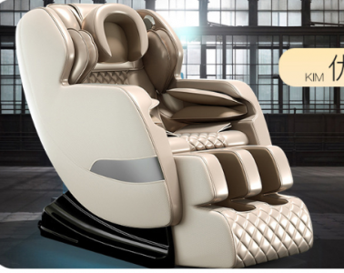 Massage chair (KJ-M8) with full-body multi-function manipulator - gold
