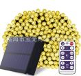 Outdoor waterproofing Solar LED lamp string remote control 22M - warm white light