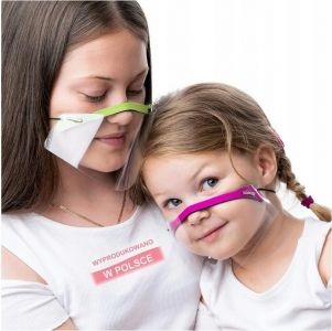 Plastic mouth shield (type one) adult - green