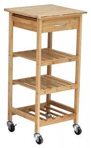 Rolling Bamboo Kitchen Island Storage - ZM7901