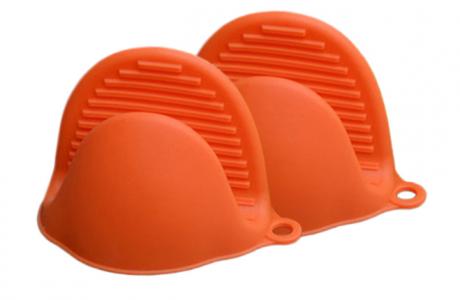 Silicone glove for kitchen - orange