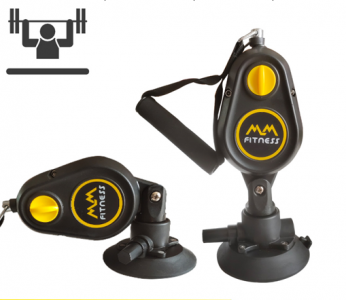 Suction disc pull spring exerciser