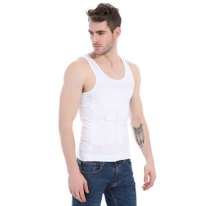 WHITE SLIMMING T-SHIRT - MODELING  XXL
